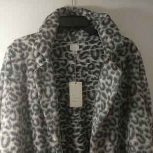 NWT A New Day Leopard print coat